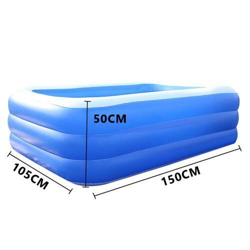 Piscine épaissie gonflable pour enfants de ménage 150 cm - Bleu - Jeu / Piscine gonflable