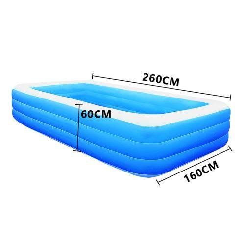 Piscine épaissie gonflable pour enfants de ménage 260 cm - Bleu - Jeu / Piscine gonflable