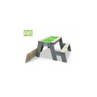 EXIT Aksent Table sable, eau et pique-nique + 1 banc - Autre jeu de plein air