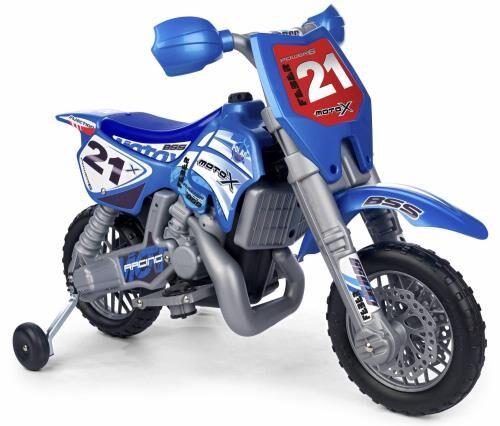 febe moto x cross 6v avec casque feber - véhicule électrique pour enfant