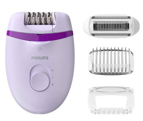 philips bre275/00, epilateur satinelle essential, lumière intégrée, 4 accessoires - santé et soins