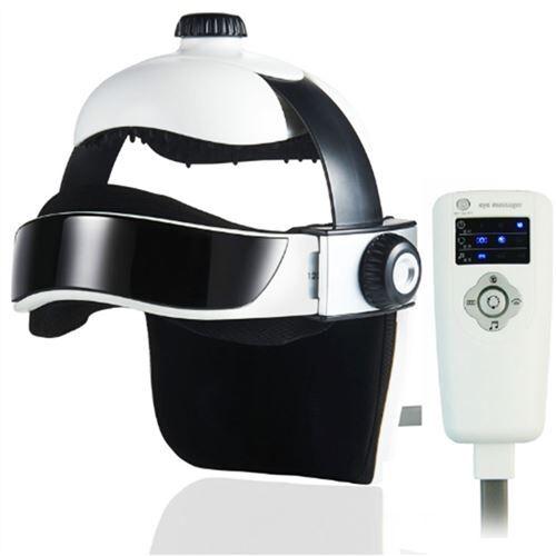 yonis appareil de massage masseur electrique tête yeux casque massant musique abs pression air - yonis - relaxation et massage