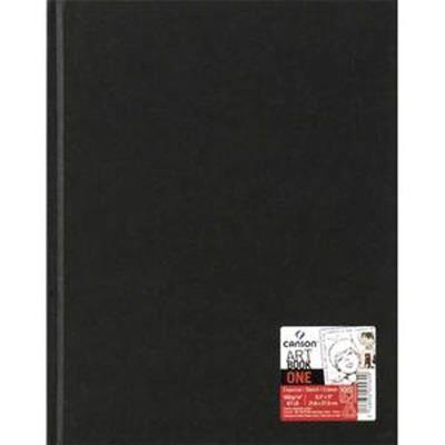 visiodirect lot de 6 carnets de 100 feuilles de papier dessin art book one 100g 14x21,6cm noir - carnets et journaux intimes