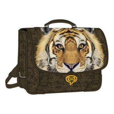 stones and bones cartable lily tiger mud 38 cm - cartables scolaires