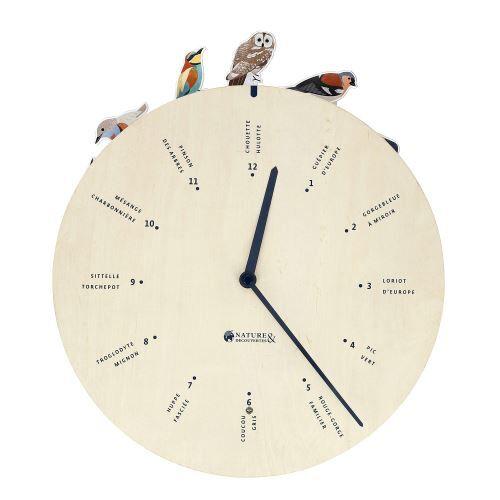 Nature et Découvertes Horloge chants d'oiseaux 30 cm - Décoration murale