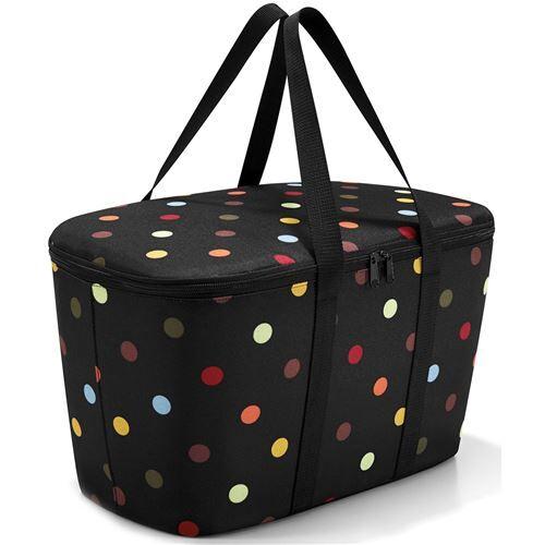 reisenthel, sac de courses, sac isotherme sac isotherme sac de courses isotherme-noir/pois-uh7009 - meubles de cuisine