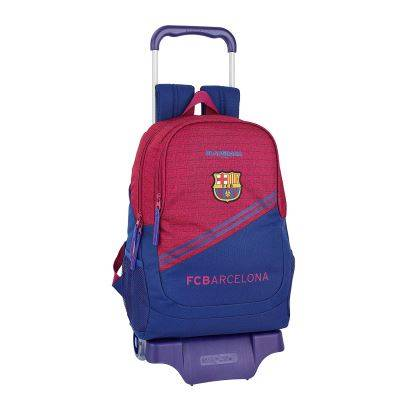FCB FC Barcelona Corporativa Sac à dos scolaire avec chariot 330 x 150 x 430 mm - Cartable, sac à dos primaire