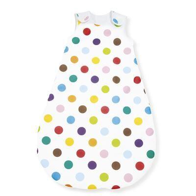 PINOLINO Imprimé points multicolores - sac de couchage pour été 130 cm - Gigoteuses - Nids d'Ange