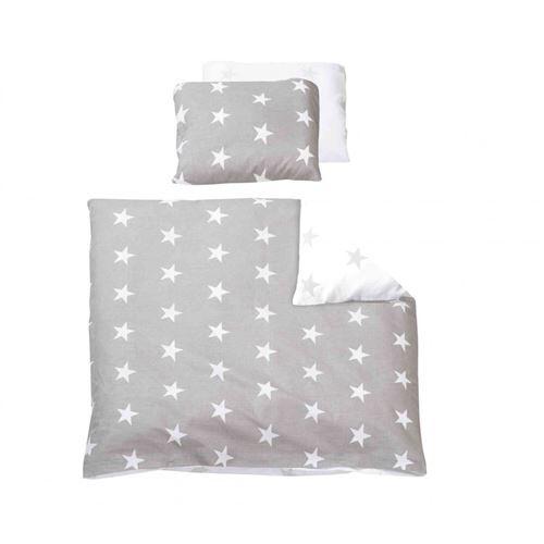 Non communiqué Parure de lit bébé Little Stars gris/blanc - 100x135 - Matelas Drap-Housse