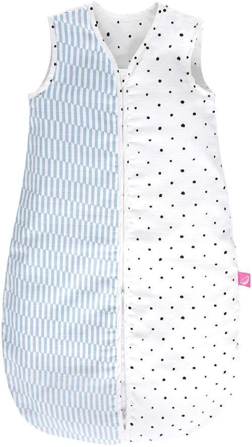 Non communiqué Motherhood Gigoteuse d'été en Mousseline de Coton – Gigoteuse Douillette pour bébé certifiée Öko-Tex Standard, Classe 1, Taille : 6-18 Mois, palissade Bleu - Matelas de voyage