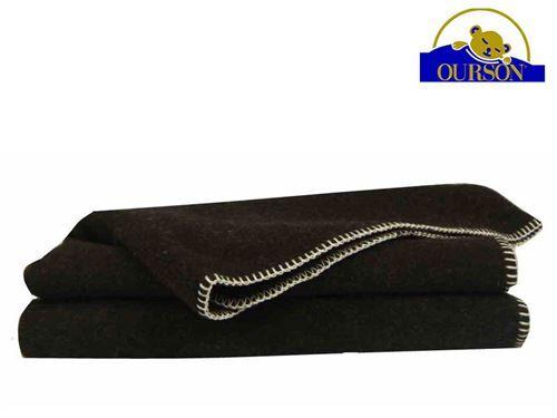 Ourson Couverture laine bio ourson 400 gr burel 180x220 - Couvertures - Edredons - Couettes