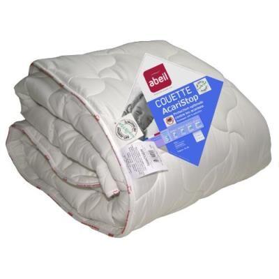 Abeil couette anti-acarien/antibactérienne etoile polyester blanc 240 x 260 cm - Matelas Drap-Housse