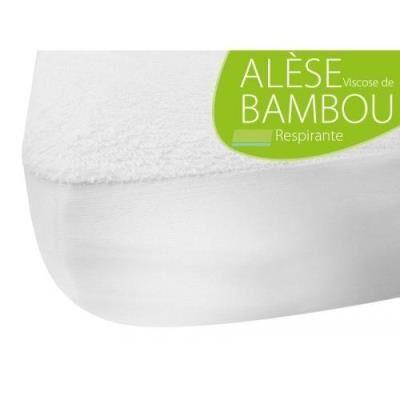 Soraya Kadolis protections de matelas pour lit alèse junior bambou 90x200 cm blanc - Matelas Drap-Housse