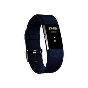 Fitbit Charge 2 - argent - suivi d'activités avec bande bleu - argenté(e) - Montre connectée