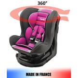 Mycarsit Siège auto pivotant 360° et inclinable 4 positions Made in France groupe 0+ / 1 (0-18kg) - 3 couleurs - Sièges auto, nacelles et coques