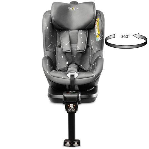 Caretero TWISTY Siège auto pivotant 360° Isofix 0 à 18 kg i-size Gris - Sièges auto, nacelles et coques