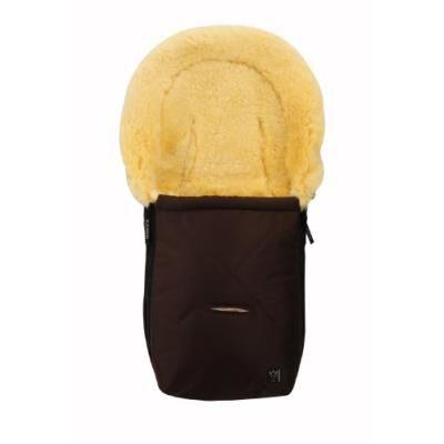 KAISER - Sac de couchage en peau d'agneau - marron - Poussette