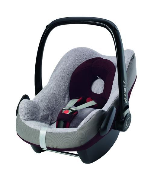 BBCF Housse éponge Bébé Confort pour siège auto Pebble Gris - Accessoire sorties