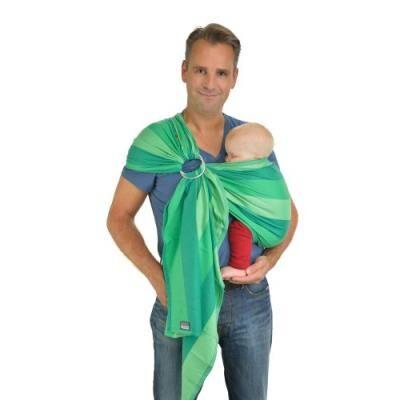 Hoppediz ring-sling, écharpe de portage en sergé croisé avec guide d'utilisation, lima - Porte-Bébés