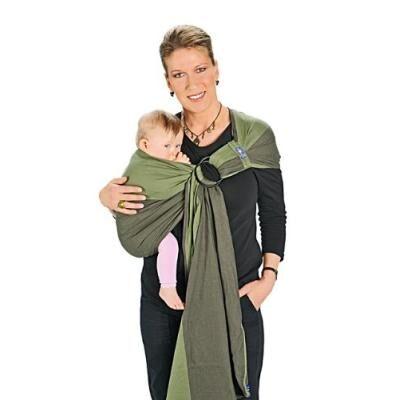 hoppediz r-pan panama écharpe de portage/ring-sling avec guide d'utilisation - Ombrelle