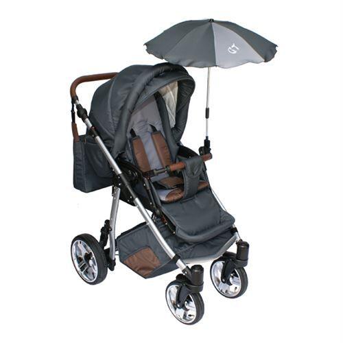 Skyline Poussette avec accessoires & cadre en aluminium et roues en mousse bébé enfant GT   Grise - Poussette