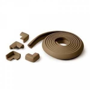 Prince lionheart rouleau de mousse antichoc + 4 coins - chocolat - Autres protection/sécurité