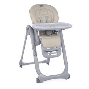 CHICCO Chaise haute à 4 roues Chicco Polly Magic Relax Beige - Chaise haute ou réhausseur