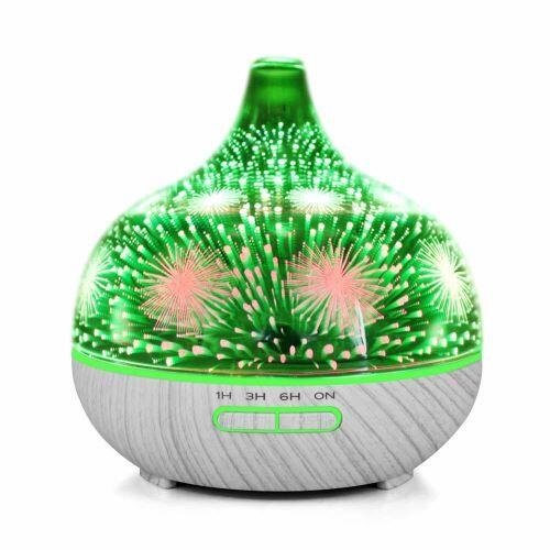 Aroma Night Light 3D par ultrasons Diffuseur Huile Essentielle Aromathérapie Humidificateur_kosenewe62 - Humidificateurs
