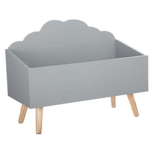 Atmosphera Créateur D'intérieur Coffre à jouets nuage gris en bois - Coffre à jouets et rangements