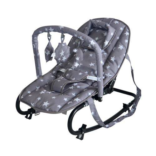 King Bear Relax avec cale-tête et arche de jeux - Gris Etoiles - Transats pour bébé