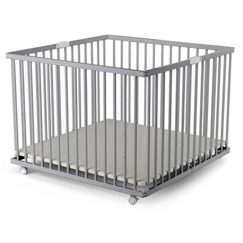 Baby Fox Parc bébé pliant en bois gris 100x100 - Parcs