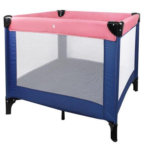 Leogreen - Lit Pliable de Voyage, Parc pour Enfants, Standard CE, 93 x 93 x 76 cm, Rose/Bleu, Charge maximale: 25 kg - Lits parapluie