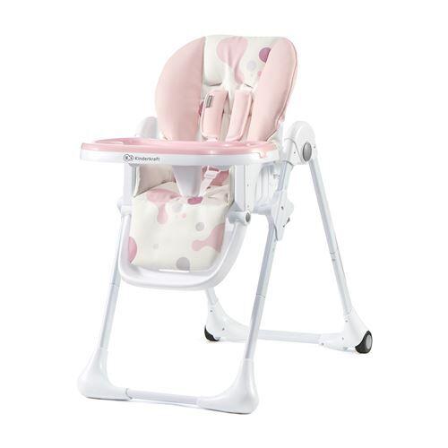 chaise haute évolutive   chaise repas   chaise bébe enfant   dès 6 mois jusqu'à 5 ans   siège repas   repose pieds/double plateau   rose - autre mobilier bébé