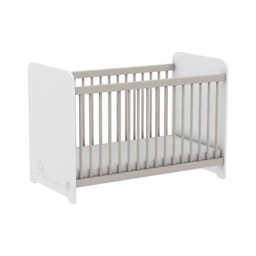 Demeyere MISTIGRI 261537 Lit bébé - 60 x 120 cm - Blanc mat - Lit pour enfant