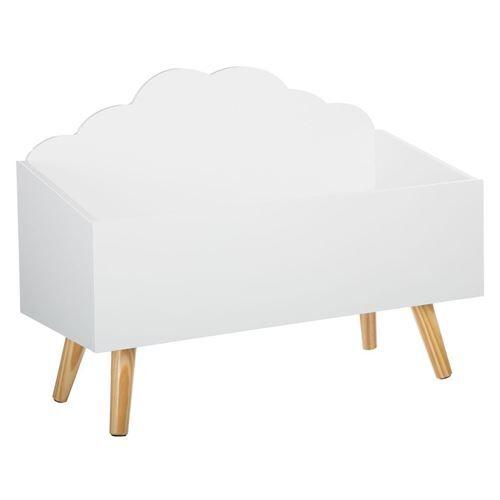 Atmosphera For Kids Coffre à jouets nuage blanc en bois - Coffre à jouets et rangements