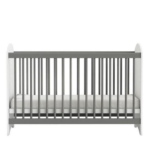 Demeyere CLOVER Lit Bébé a Barreaux 60x120 cm Coloris Blanc Perle - Lit pour enfant