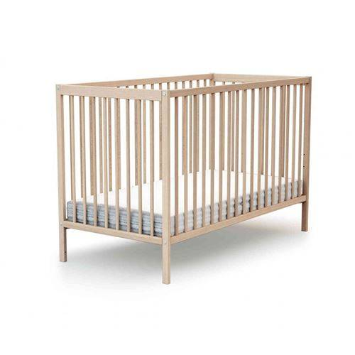 Baby Fox Lit bébé à barreaux en bois hêtre verni 70x140 - Lit pour enfant