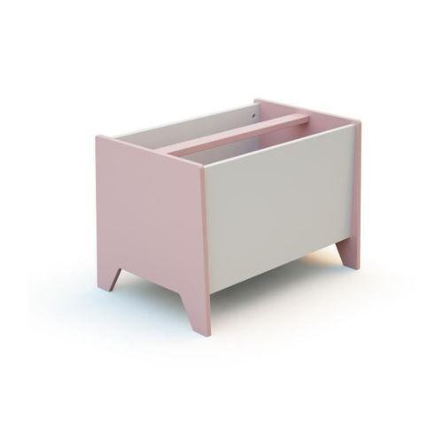 at4 bac a jouets - rose/blanc - Coffre à jouets et rangements