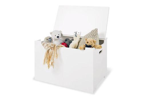 Pinolino Coffre à jouets en bois blanc - Coffre à jouets et rangements