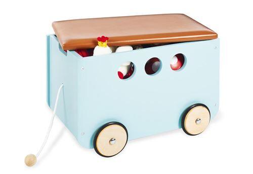 Pinolino Coffre a jouets a roulettes Jim Menthe - Coffre à jouets et rangements