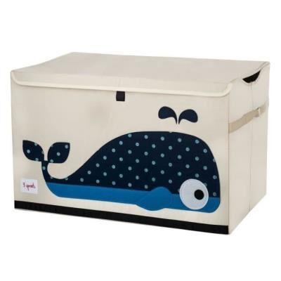 3 SPROUTS Caisse de Rangement Baleine - Coffre à jouets et rangements