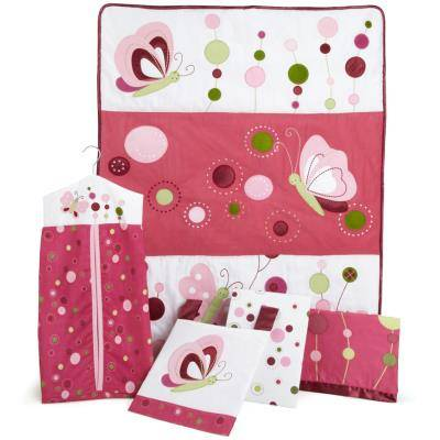 PEGANE Ensemble de literie le tourbillon de framboises pour enfants (Pack de 5 pièces), 48.3 x 48.3 x 15.2 cm -PEGANE- - Tour de Lit