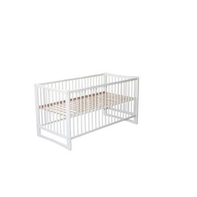 Legler Lit de bébé en bois Marie blanc vernis - Lit pour enfant