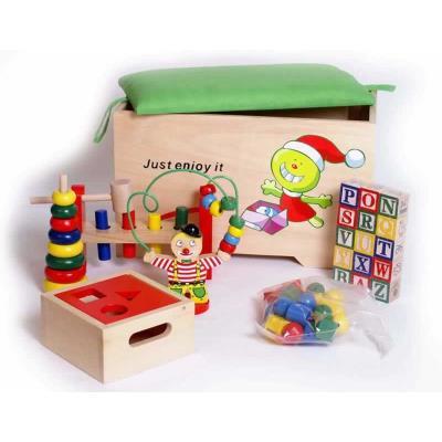 Legler Coffre à jouets avec accessoires Hugo - Autres décoration et mobilier