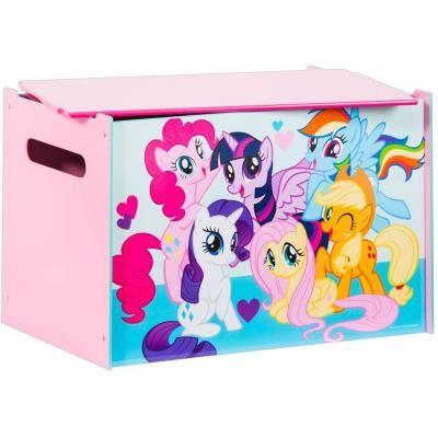 PEGANE Coffre à jouets enfant Mon Petit Poney - Dim : 60 x 40 x 40 cm -PEGANE- - Coffre à jouets et rangements