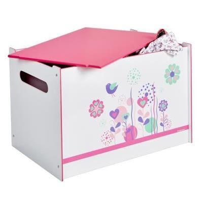 PEGANE Coffre à Jouets Enfant en bois flower flower - Dim : 60 x 40 x 40 cm -PEGANE- - Coffre à jouets et rangements