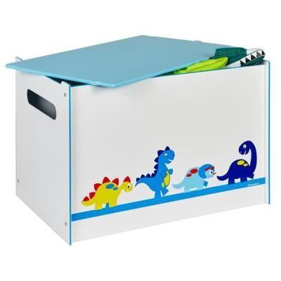 PEGANE Coffre à Jouets Enfant motif Dinosaures- Dim : 60 x 40 x 40 cm -PEGANE- - Coffre à jouets et rangements
