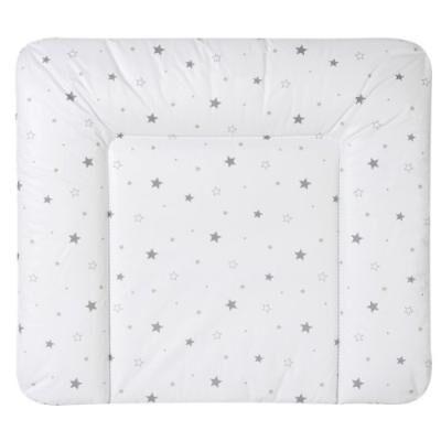 schardt 136100000 1/679 matelas à langer à housse essuyable gris/petites étoiles 84 x 74 cm - Commodes et plans à langer