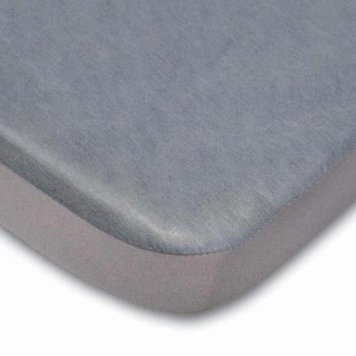 Bedding Drap housse alèse 2 en 1 - 60x120 gris - Matelas Drap-Housse