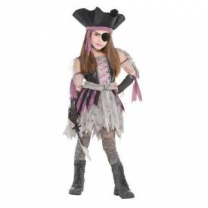 Amscan haunted pirate - costume ado - robe chapeau, mitaines et collants, taille 12 14 ans 9902463 - Déguisement adulte
